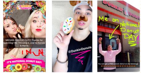 Snapchat Dunkin' Donuts
