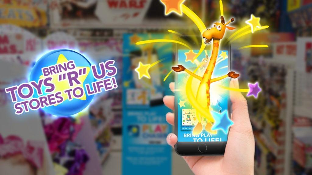 """toys """"r"""" us, geoffrey giraffe, AR"""