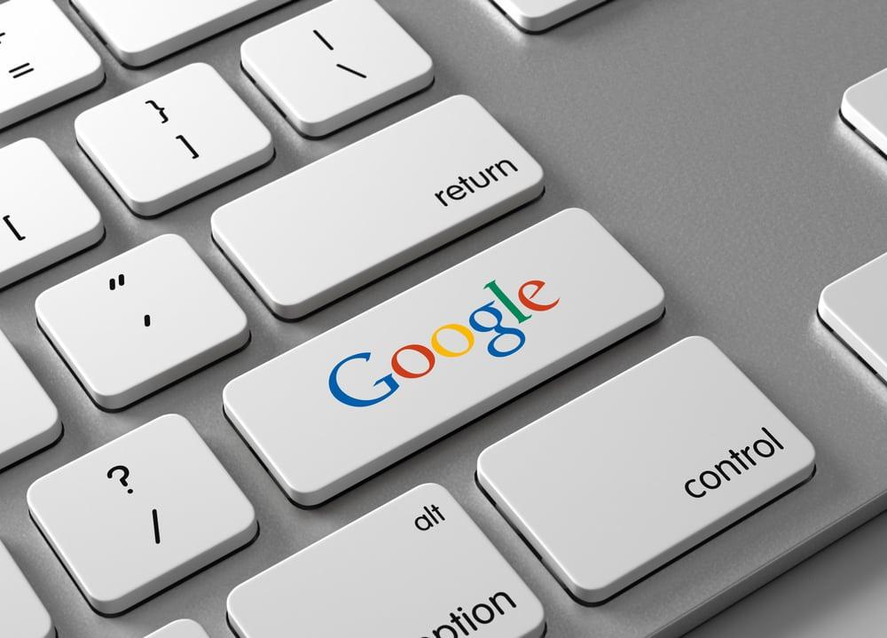 google, button