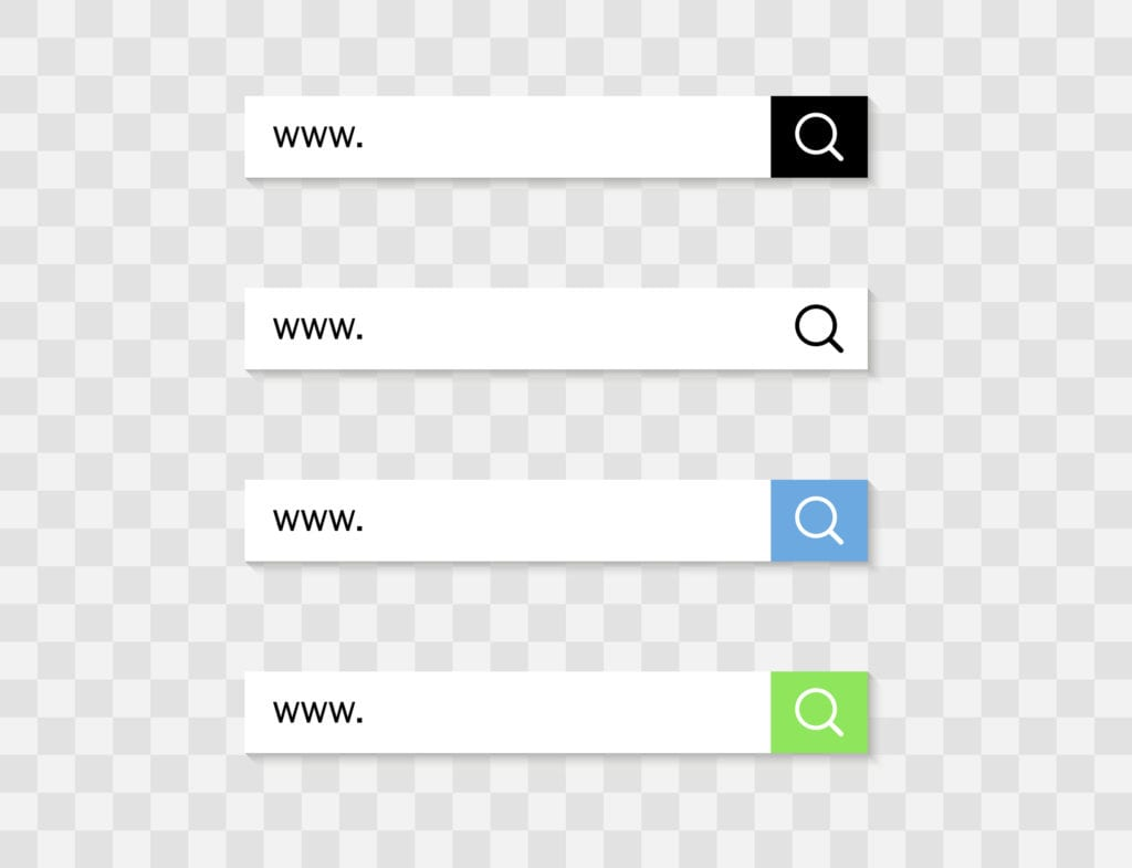 "4 search bars with ""wwws"""