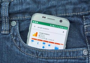 google analytics on a mobile device, back pocket