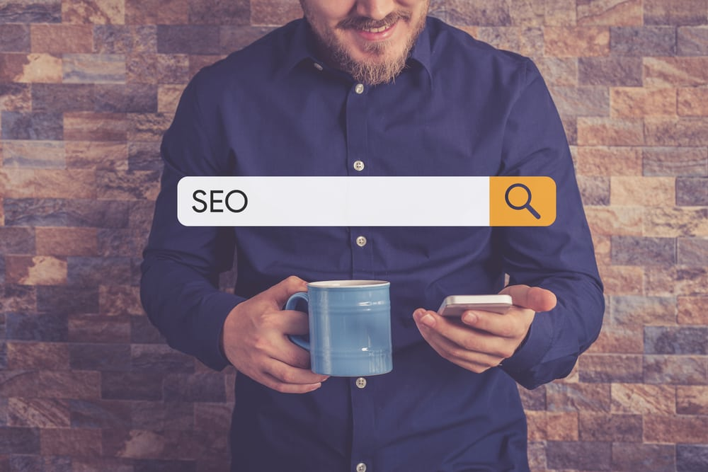 man searching for SEO