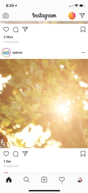 shiny blur instagram feed