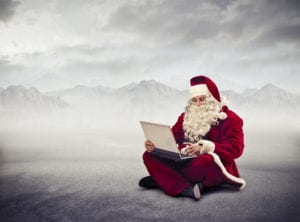 Santa as social media marketer