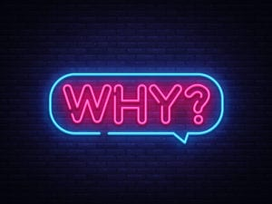 """why"" in neon lights"