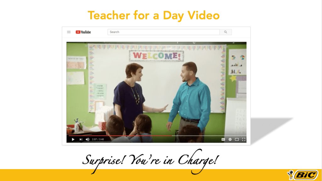 BIC, Teacher for A Day