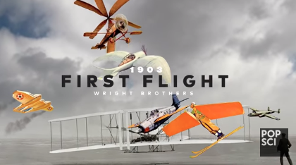 popular science youtube screenshot, wright brothers planes