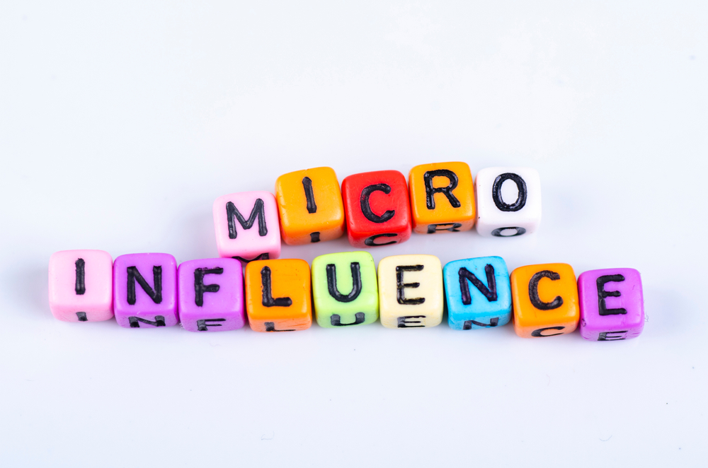 colorful blocks reading 'micro-influence'