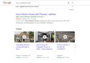 search results for how to construct a house