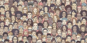 sea of diverse faces
