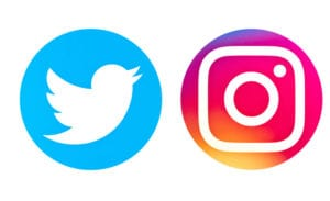twitter and instagram logos
