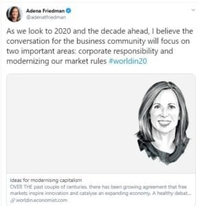 Adena Friedman - CEO NASDAQ