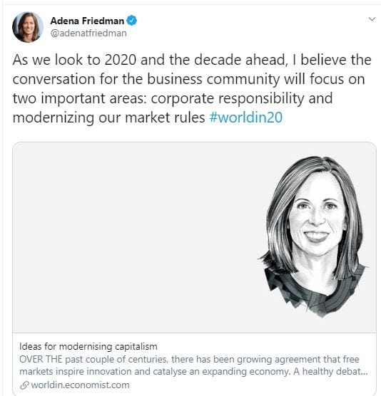 Adena Friedman - CEO NASDAQ