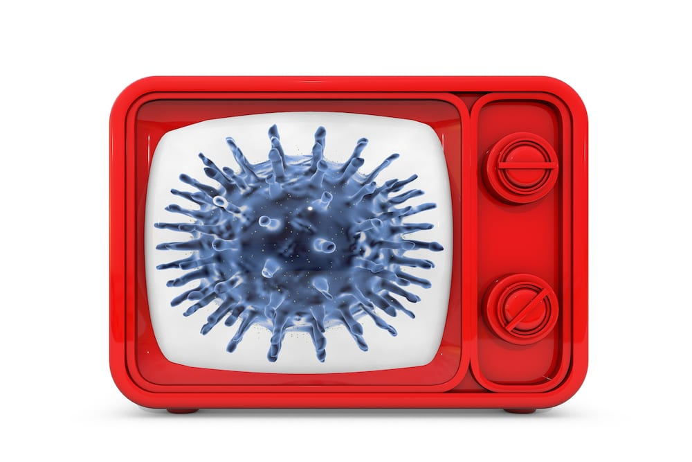 covid19 on TV screen