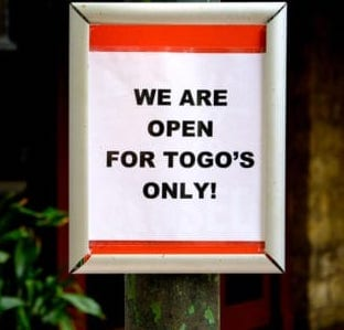 togo image in window